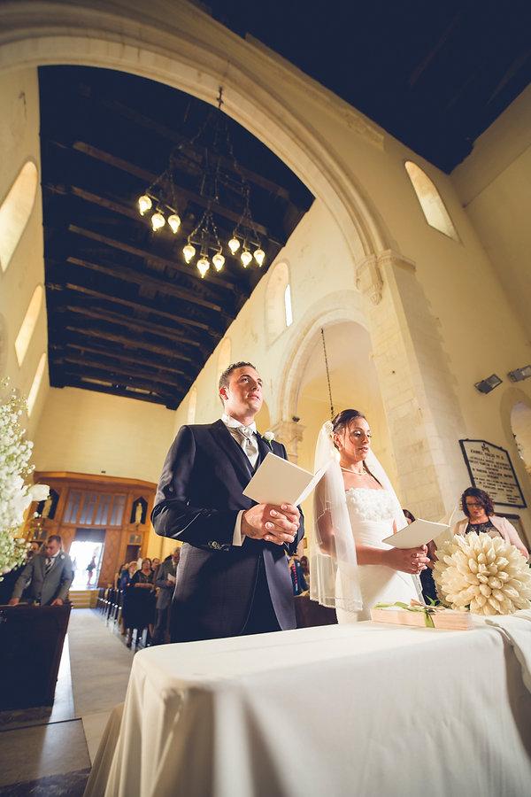 groom ad bride in taormina church sicily