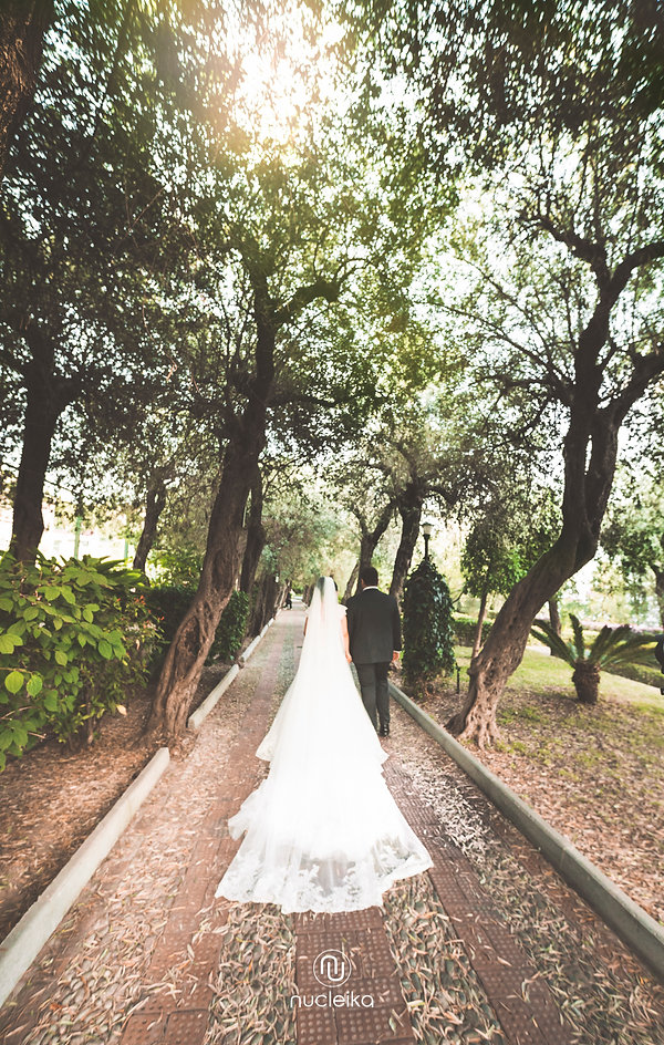 nucleika wedding walking in the wood