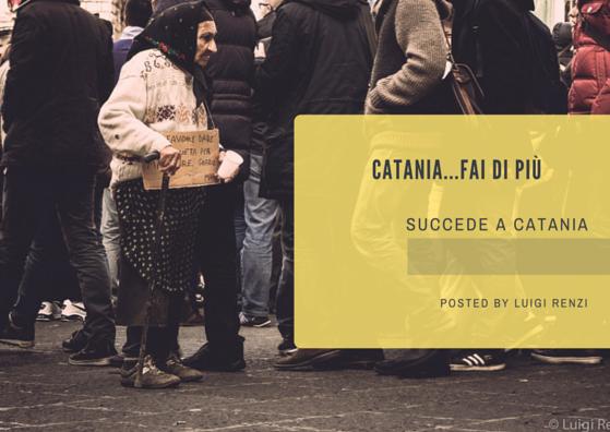 elemosina chiesta da una mendicante nella città di catania, sicily, sicilia