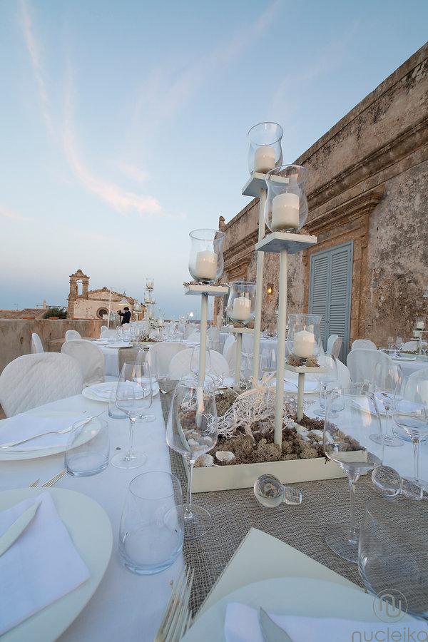 tavola apparecchiate per matrimonio