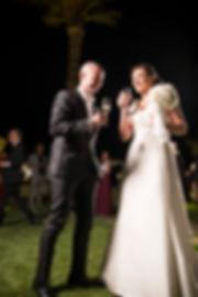 il brindisi degli sposi