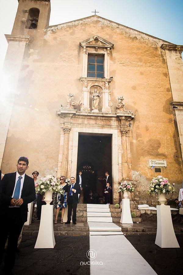 nucleika wedding in taormina church