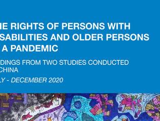 The Rights of Persons with Disabilities & Older Persons in a Pandemic: Findings from 2 Studies China