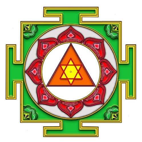 Ganesha Yantra Coloring Page