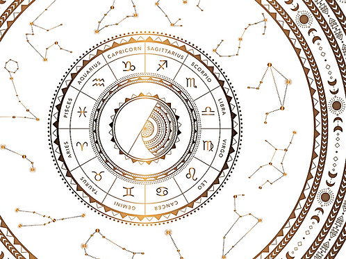 Vedic Birth Chart, Planetary Cycles + Sun, Moon & Rising Sign