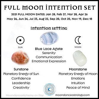 Full Moon Intention Set