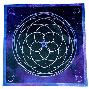 Venus Crystal Grid Altar Cloth