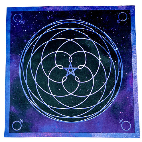 Venus Crystal Grid Altar Cloth
