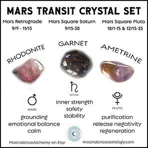 MARS TRANSIT CRYSTAL SET