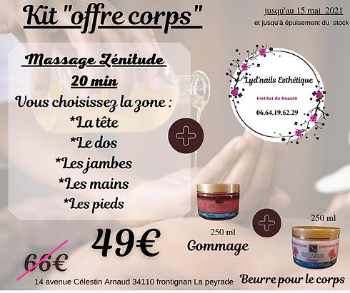 Massage Zénitude 20 min Vous choisissez
