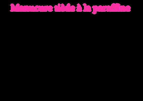 Manucure La chaleur de la paraffine favo