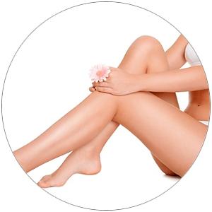 эпиляция ног женщин