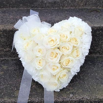 Pure white Love heart