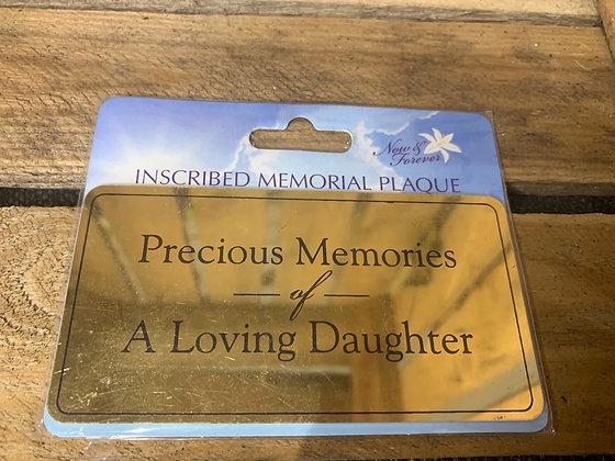 Precious memories of a loving daughter