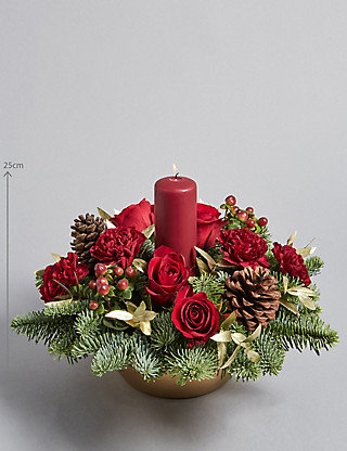 Red Candle Arrangement