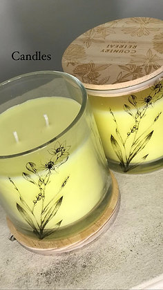 Country retreat candle