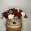 Thumbnail: Red & white rose hatbox