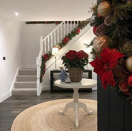 Artificial stair garland