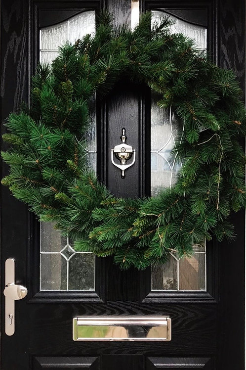 Large artificial door wreath