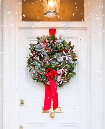Winter berry door wreath