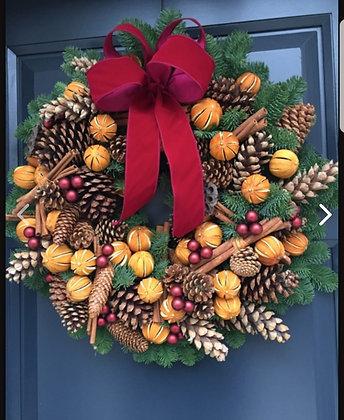16inc large door wreath