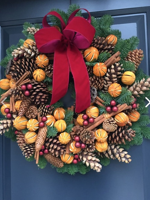 16inc large door wreath