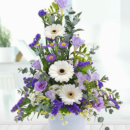 Lilac and white arrangement