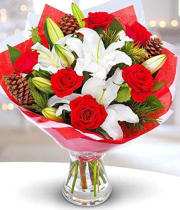 rose and lily xmas cheer