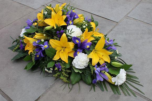 Oasis Purple , yellow & white