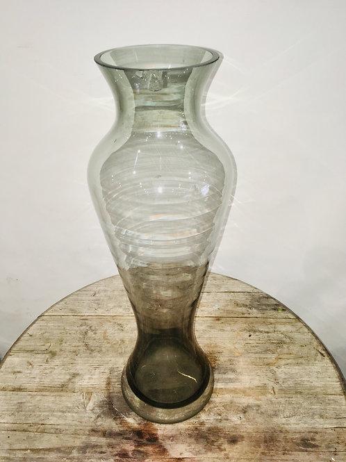 Clear Black Hurricane Vase