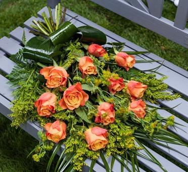 Orange rose tied sheaf - 5001