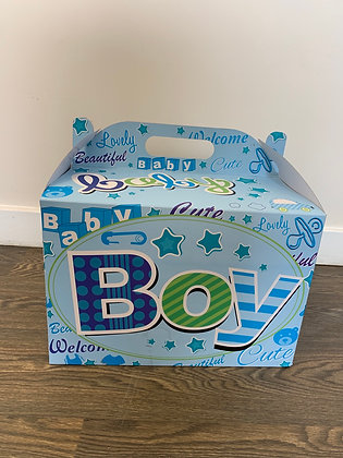 Baby boy balloon in a box
