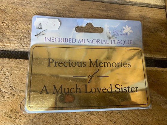 Precious memories of a much loved sister
