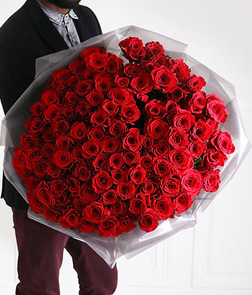x100 RED ROSES