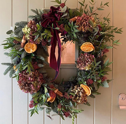 Elsa door wreath