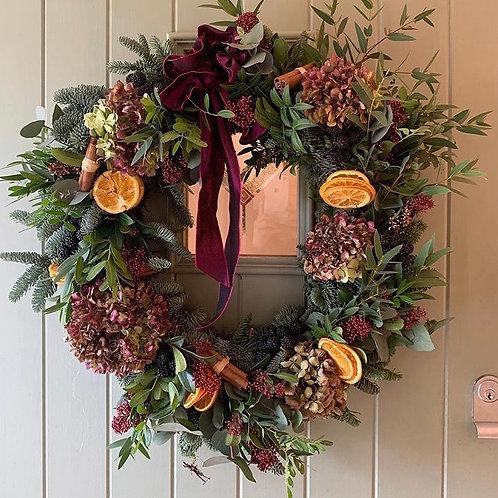 Elsa door wreath