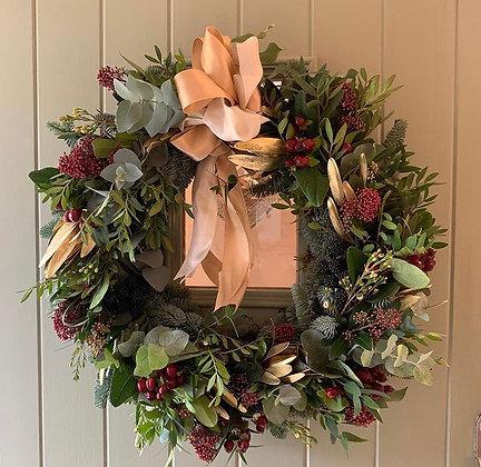 Mulled wine door wreath