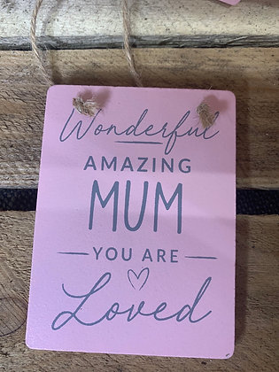 Wonderful amazing mum tagg