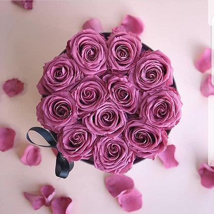Lilac rose Hat box