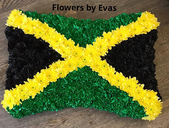 Jamaican Flag Pillow Funeral Flowers Tribute