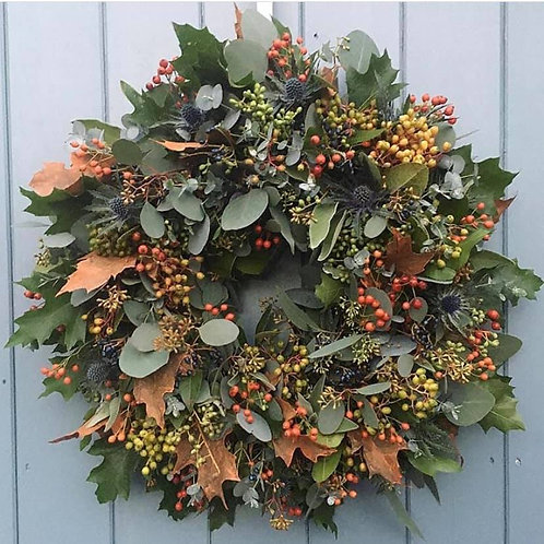 Rustic Door wreath