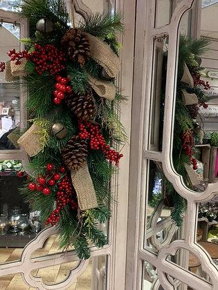 Tear drop door wreath