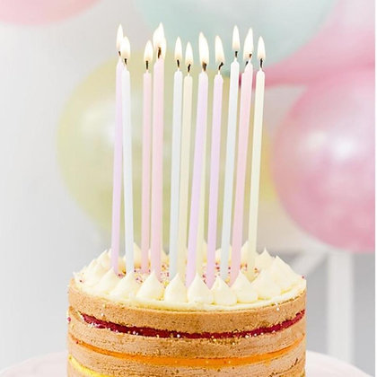 Pastel birthday candles