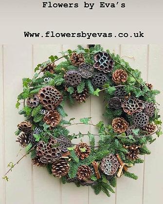 Lotus head Door wreath