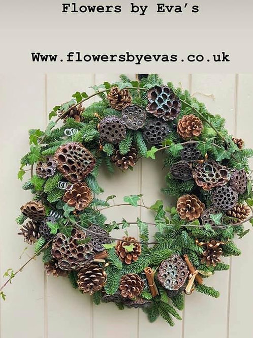 Lotus head Door wreath