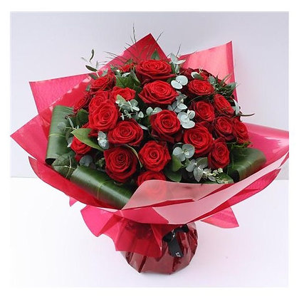Two dozen LUXURY NAOMI ROSES HAND-TIED