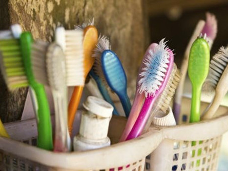 Un sitio adecuado para guardar el cepillo de dientes