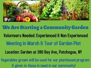 Community Garden-Volunteers Needed