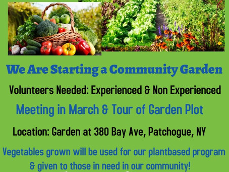 Community Garden-Volunteers Needed