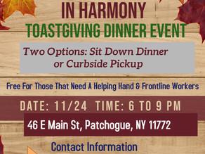In Harmony Toastgiving Event